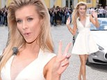 Would Marilyn Monroe really do that? Joanna Krupa strikes oddball poses as she dresses like late movie star in Poland