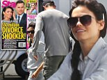 A smiling Jenna Dewan is spotted on the set of her TV show with husband Channing Tatum... after slamming claims they're headed for $50m divorce
