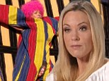 Birthday special: Kate Gosselin hurled herself onto a Velcro Wall on a special broadcast on Thursday celebrating the 10th birthday of her sextuplets