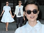Keira Knightley and husband James Righton make an adorable pair as they exit New York hotel hand-in-hand