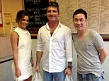 She'll have the salt and chilli ribs: Cheryl Cole pays a visit to her local Chinese takeaway in Newcastle with Simon Cowell