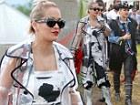 Rita Ora switches her look at Glastonbury