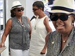 Star Jones steps out for lunch with gal pals... as her friend Sherri Shepherd is ousted from The View