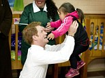 Prince Harry was all smiles as he met the children from the Mapuche indigenous community