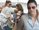 PICTURE EXCLUSIVE: Feeling broody Jessica? Biel shows off maternal side as she dotes on pal's baby during lunch date