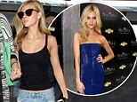 Nicola Peltz swaps premi�re glamour for casual ripped jeans and sneakers.... but still shows off her toned midriff
