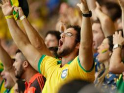 Brazil Fans Celebrate Entry Into FIFA World Cup Quarters