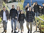 All together! Ricky Martin takes his The Voice team for a picturesque stroll in Bondi ahead of another round of live finals