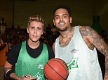 Bieber vs. Brown! Justin and Chris battle it out on opposite teams at BET Celebrity Basketball Game