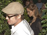 Adults only! Angelina Jolie and her fianc� Brad Pitt enjoyed a romantic dinner for two in West Hollywood on Saturday