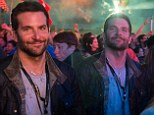 Festival goer: Bradley Cooper watches Metallica headline the Glastonbury Festival from the front of stage at Worthy Farm on Saturday