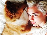 Dog lover Miley Cyrus introduces her new Rough Collie puppy Emu to fans...three months after the death of her Alaskan Klee Kai