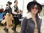 Daisy Lowe and Nick Grimshaw at Glasto