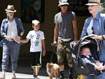 Family day out! Gwen Stefani and Gavin Rossdale treat their growing brood to a sunny stroll in LA