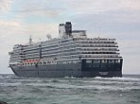 Cleared to sail: A small fire broke out in the boiler room of the MS Westerdam on Saturday night but no one was injured