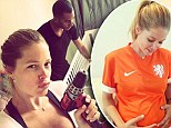 Pregnant Victoria Secret's Angel Doutzen Kroes prepares for her daughter's arrival next month by making a crib