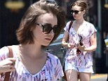 Lily Collins looks fresh as a daisy as she emerges with beautifully styled tresses after treating herself to pampering session in LA