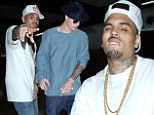 Rocking it old-school style! Chris Brown is supported by A-list pals including Justin Bieber as he hosts 1st Annual Skate Jam Party in LA