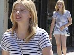 Seventeen and stylish: Chloe Grace Moretz was Cali chic as she grabbed lunch with her brother in Los Angeles on Saturday