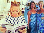 Sentimental Sunday! Jessica Seinfeld reminisces about recent Greek vacation as she shares candid photo of fresh-faced BFF Kelly Ripa studying travel guide