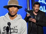 A Happy night! Pharrell Williams is big winner at BET Awards as Lionel Richie receives lifetime achievement gong