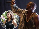 Kanye West headlines Bråvalla Festival in Sweden as wife Kim Kardashian enjoys a relaxed day with family at the Hamptons