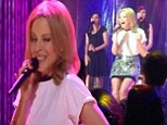 No rest for the wicked! Kylie Minogue mesmerises fans in rare acoustic performance just hours after hitting the stage during The Voice live finals