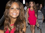 Red hot after heartbreak! Newly single Christina Milian stuns in a bright crimson mini-dress as she steps out for dinner in Beverly Hills