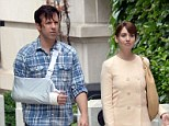 Naked women storm the New York City set of Jason Sudeikis' latest movie... and order pizza