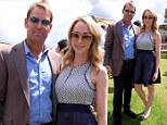 What a difference a month makes! Shane Warne is joined by Emily Scott for UK event...30 days after saying they're just friends'