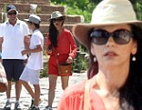 Michael Douglas and Catherine Zeta-Jones prove their marriage is firmly back on track as they enjoy a Roman holiday with children