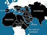Caliphate: A map purportedly showing the areas ISIS plans to have under its control within five years has been widely shared online. As well as the Middle East, North Africa and large areas of Asia, it also reveals ISIS' ambition to extend into Europe. Spain, which was Muslim-ruled until the late 15th Century, would form part of the caliphate, as would the Balkan states and eastern Europe, up to and including Austria