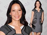 How very Elementary of her! Lucy Liu dons sexy librarian dress while attending BAM Education's Ignite Gala
