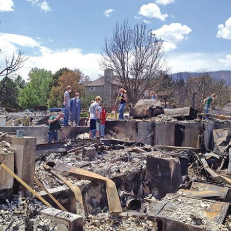 home is destroyed by Colorado wildfire