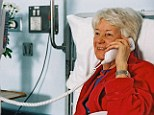 Costly call: Speaking to a relative in hospital can leave with you a nasty surprise on your phone bill.
