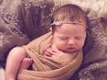 Tiny tot: Donald Trump Jr and his wife Vanessa shared a picture of their newborn daughter Chloe Sofia on Twitter