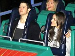 Hold On! Nick Jonas and girlfriend Olivia Culpo have a screaming good time riding the rollercoasters at Disneyland