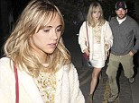 Making up for lost time! Suki Waterhouse steps out in white shift dress while enjoying romantic evening with Bradley Cooper