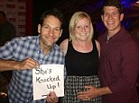 'Knocked Up' star Paul Rudd recently helped one couple reveal their pregnancy to friends and family when he ran into them in a chance meeting.