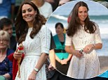 So nice, she wore it twice! Kate Middleton recycles same lace Zimmermann dress she wore during Royal tour of Australia as she takes in game a Wimbledon