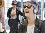 No stopping her! Kelly Osbourne laughs her way through a '24 hour work day' in New York