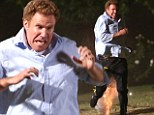 Will Ferrell shows his flair for physical comedy amidst high-tech explosions while filming hilarious scene for Get Hard