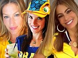 Models vs Actress: Alessandra Ambrosio and Gisele B�ndchen go head to head with Sofia Vergara as Brazil battles Colombia in the World Cup quarter-finals