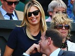 Maria looked happy to support today despite her own defeat on Tuesday to German ninth seed Angelique Kerber