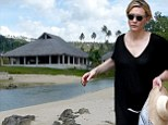 Oscar-winner turned property mogul? Cate Blanchett 'inspects ENTIRE resort up for sale in Vanuatu' as she holidays on the South Pacific island with her family