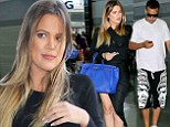 Jet-setting in style: Khloe Kardashian made sure to look sexy as she prepared to jet off to Sin City on Thursday