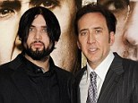 New member of the Cage clan: Nicolas Cage - seen with his 23-year-old son Weston in London on July 17 - welcomed his first grandchild, a baby boy named Lucian Augustus Coppola Cage, on July 1