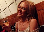 She's white wine woman! The Voice Australia coach Kylie Minogue enjoys a rare night off as she enjoys a break from her hectic schedule and spend time with friends