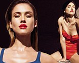 Jessica Alba oozes sex appeal in plunging red swimsuit and matching lipstick for new magazine shoot