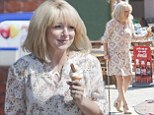 Sheridan Smith walks with a stick as she films TV adaptation of The C Word in Brighton while taking on the role of editor Lisa Lynch